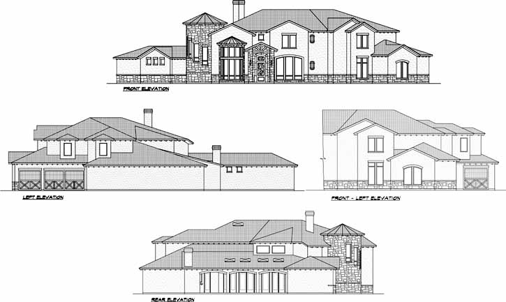 Rear Elevation Plan: 63-477