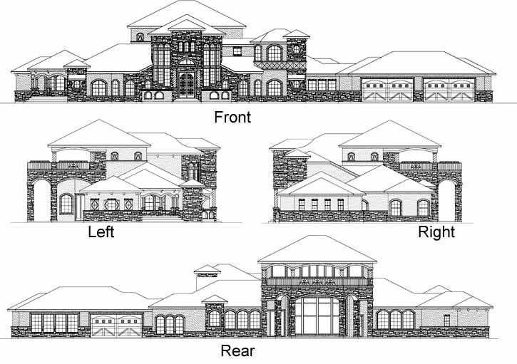 Rear Elevation Plan: 63-525