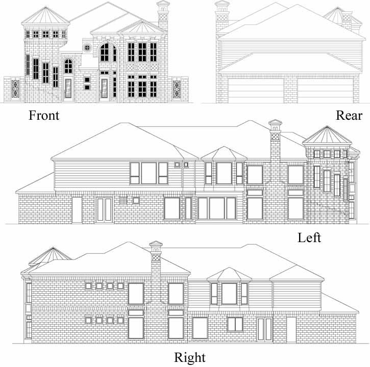Rear Elevations Plan:63-531