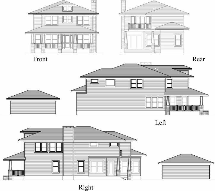 Rear Elevation Plan: 63-532