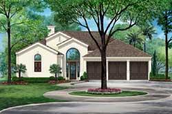 Mediterranean Style House Plans Plan: 63-542