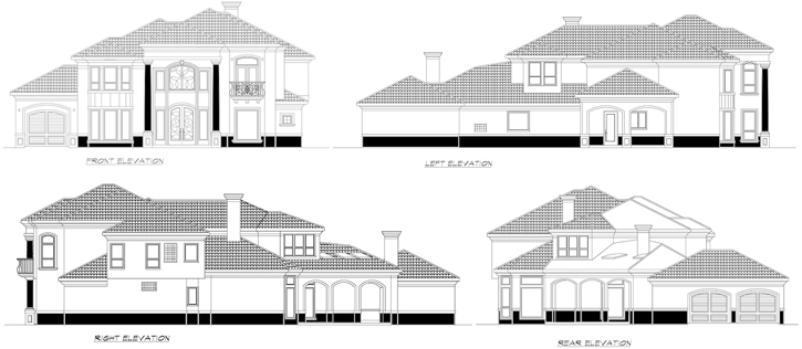 Rear Elevation Plan: 63-543