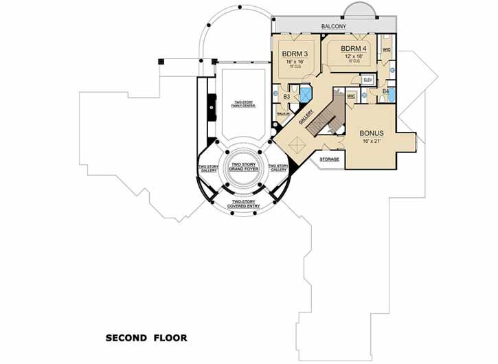 Upper/Second Floor Plan: 63-554