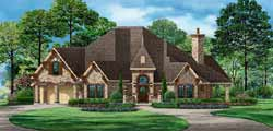 European Style House Plans Plan: 63-556