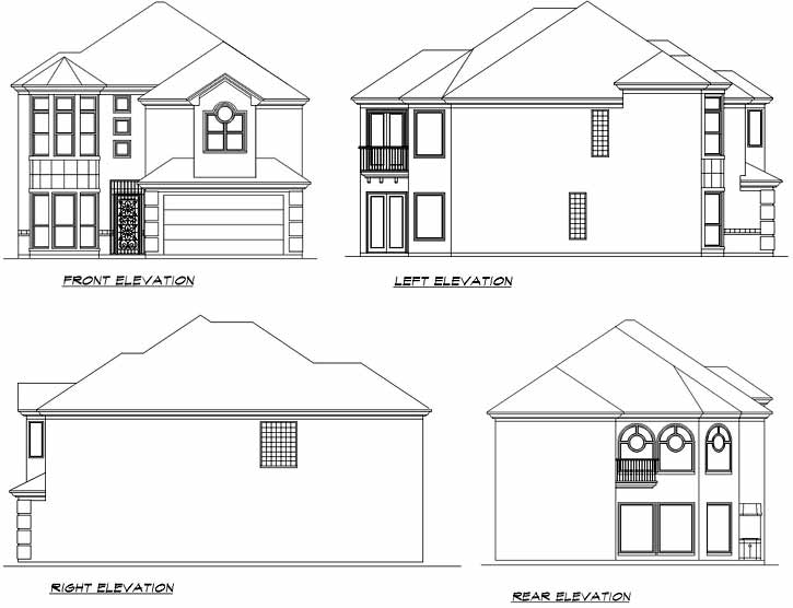 Rear Elevation Plan: 63-562
