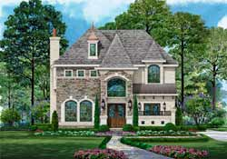 European Style House Plans Plan: 63-563