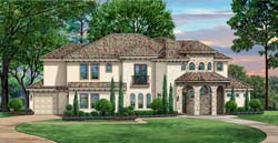 Mediterranean Style House Plans Plan: 63-568