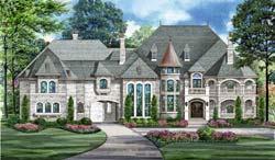 European Style House Plans Plan: 63-577