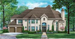 European Style Home Design Plan: 63-578
