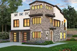 Tuscan Style House Plans Plan: 63-615