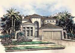 Tuscan Style Floor Plans Plan: 63-626