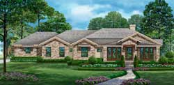 Ranch Style Home Design Plan: 63-632