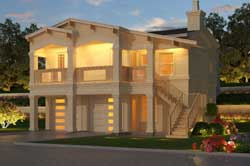 Contemporary Style House Plans Plan: 63-657
