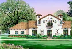 Italian Style Home Design Plan: 63-664