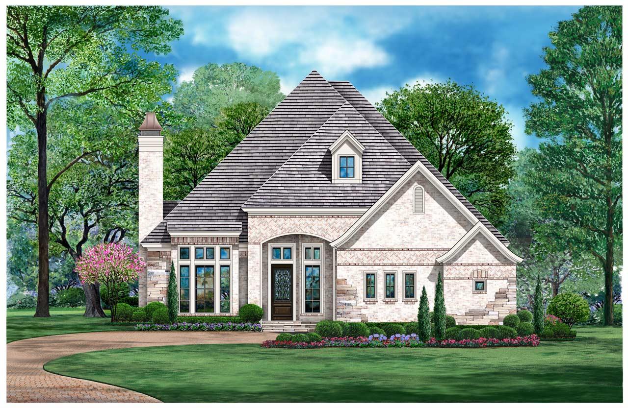 European Style House Plans Plan: 63-677