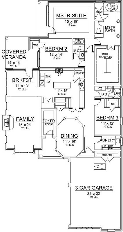Main Floor Plan: 63-677