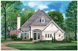 European Style Home Design Plan: 63-677