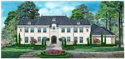 Mediterranean Style Home Design Plan: 63-678