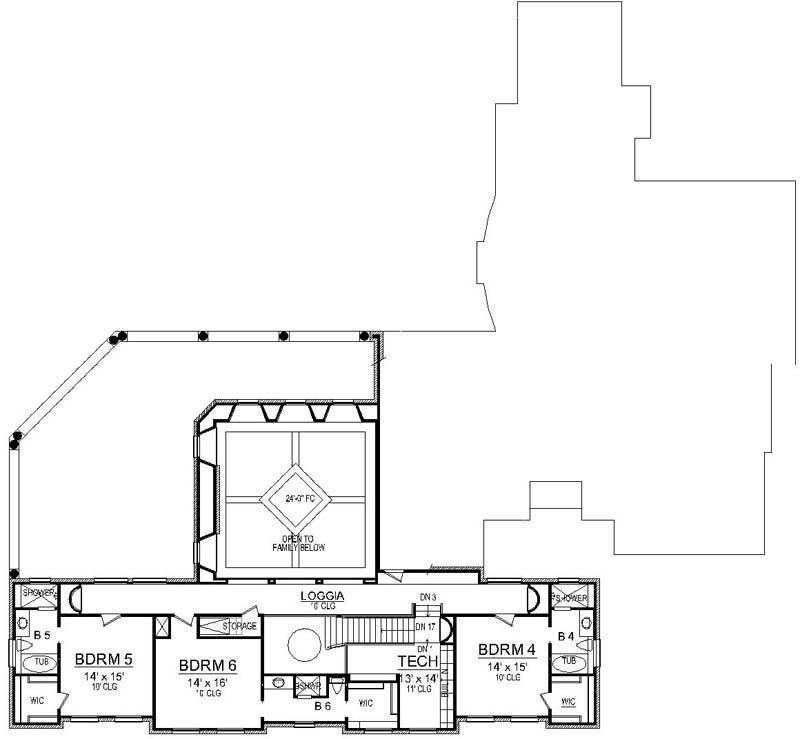 Upper/Second Floor Plan: 63-678