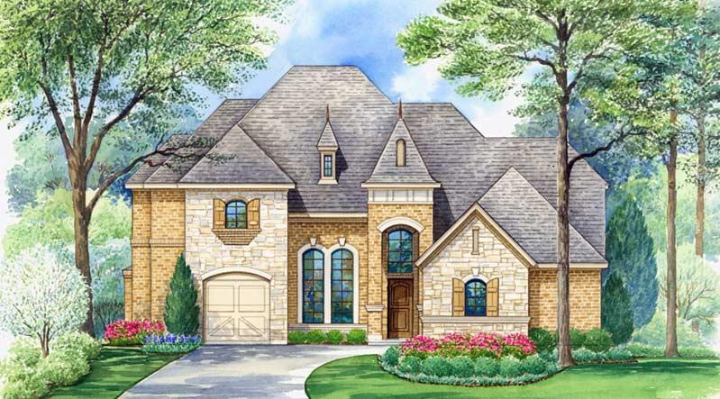 European Style House Plans Plan: 63-679