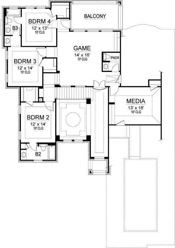 Upper/Second Floor Plan: 63-679