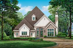 French-Country Style House Plans Plan: 63-681
