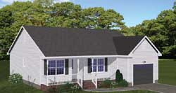 Country Style Home Design Plan: 64-101