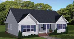 Traditional Style Home Design Plan: 64-129