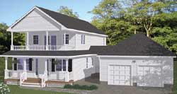 Southern Style Home Design Plan: 64-137