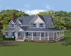 Country Style Floor Plans Plan: 65-104