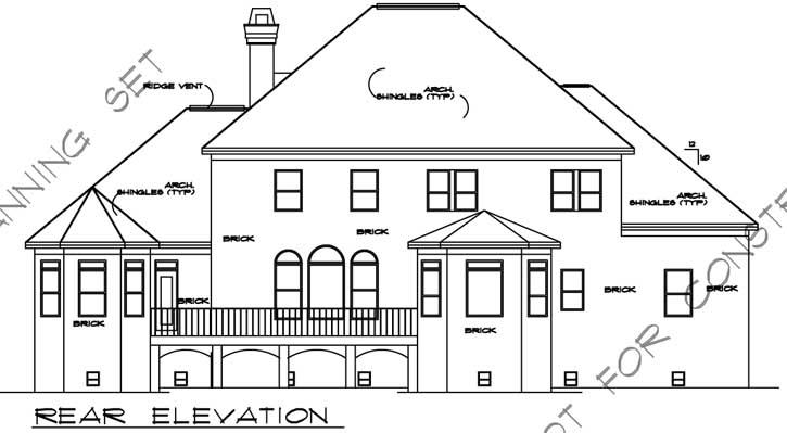 Rear Elevation Plan: 66-114