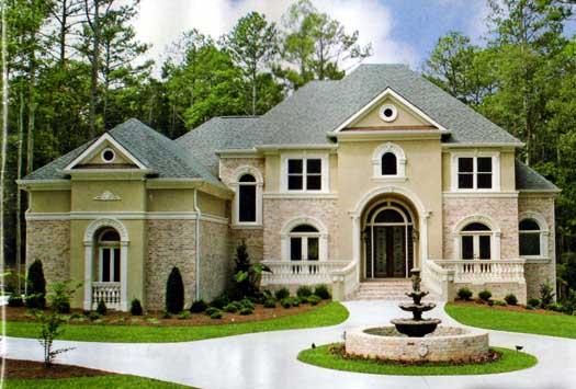 European Style Home Design Plan: 66-130