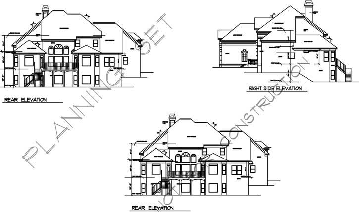 Rear Elevation Plan: 66-130
