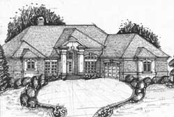 Traditional Style Home Design 66-137