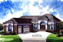Mediterranean Style House Plans Plan: 66-142