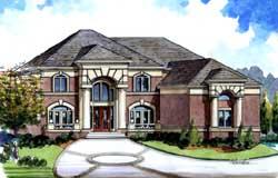 Mediterranean Style Home Design Plan: 66-154