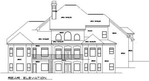 Rear Elevation Plan: 66-157