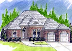 European Style House Plans Plan: 66-161