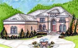 Mediterranean Style House Plans Plan: 66-164