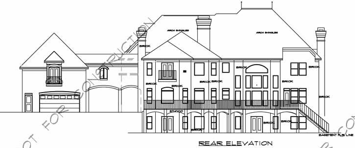 Rear Elevations Plan:66-177