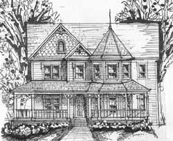Victorian Style House Plans Plan: 66-210