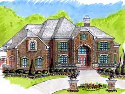 European Style House Plans Plan: 66-231