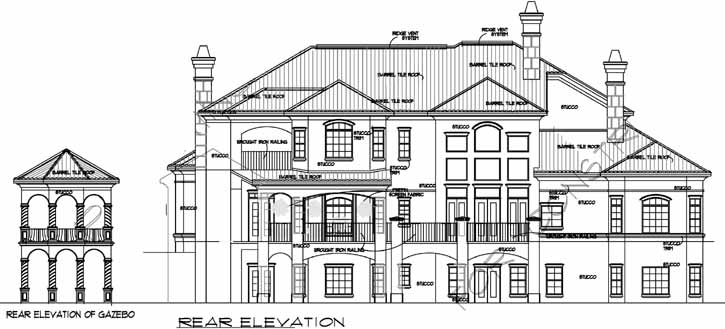 Rear Elevation Plan: 66-234