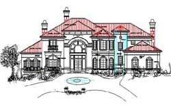 Mediterranean Style Floor Plans Plan: 66-234