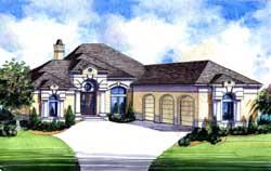 Mediterranean Style House Plans Plan: 66-242