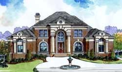 European Style Home Design Plan: 66-243