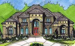 European Style House Plans Plan: 66-245
