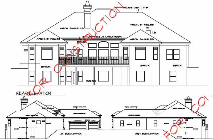 Rear Elevation Plan: 66-247