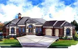 European Style Floor Plans Plan: 66-247