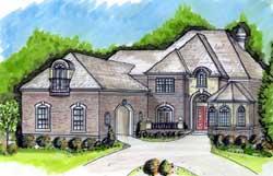 European Style House Plans Plan: 66-248